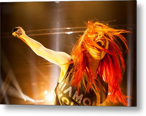 Hayley Williams Metal Print featuring the digital art Hayley Williams by Dorothy Binder