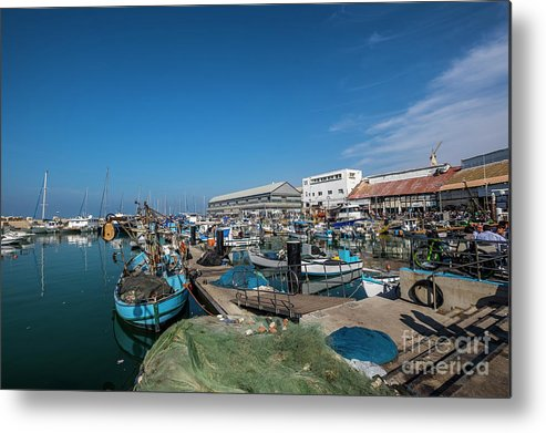 Israeli Metal Print featuring the photograph Israel, Jaffa, The Ancient Port by Ofer Zilberstein