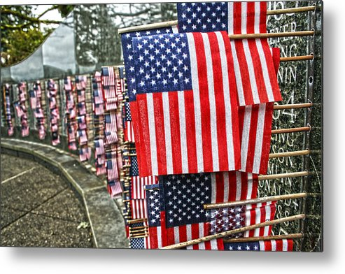 Flag Metal Print featuring the photograph Land Of The Free by Kerry Langel