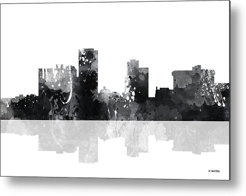 Little Rock Arkansas Skyline Metal Print featuring the digital art Little Rock Arkansas Skyline by Marlene Watson