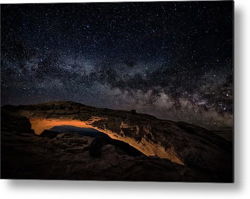 Utah Metal Print featuring the photograph Mesa Night by Robert Fawcett