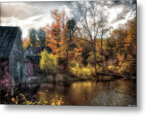 Abandoned Metal Print featuring the photograph Old Mill Boards by Richard Bean