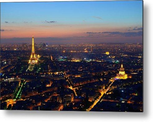 Paris Metal Print featuring the photograph Paris by Songquan Deng