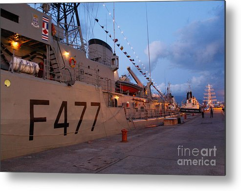 Frigates Metal Print featuring the photograph Portuguese Navy Frigates by Gaspar Avila