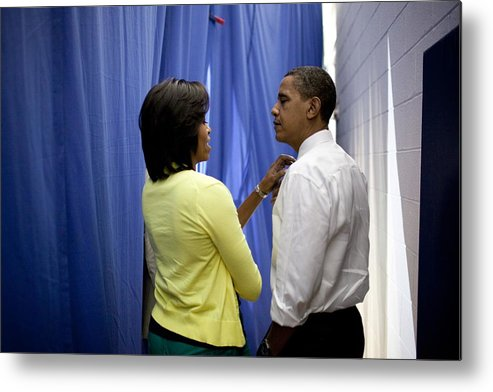 History Metal Print featuring the photograph President Barack Obama And First Lady by Everett
