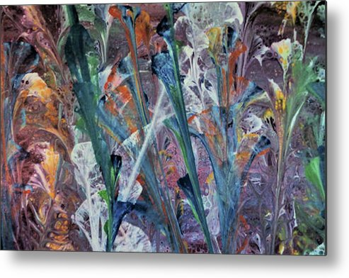 Original Metal Print featuring the painting Primordial Garden, India by Diana Robbins