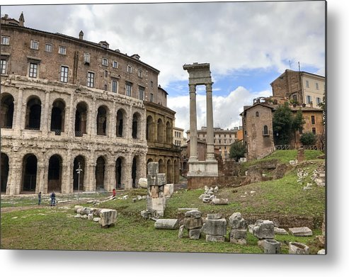 Teatro Di Marcello Metal Print featuring the photograph Rome - Theatre Of Marcellus by Joana Kruse