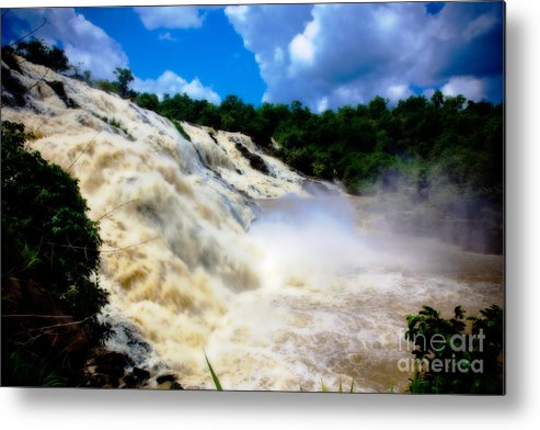 Nigeria Metal Print featuring the photograph Rush Of Water I by Irene Abdou