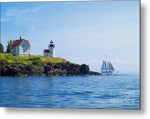 Sailing Metal Print featuring the photograph Sails Off Curtis Island Light by Neil Doren