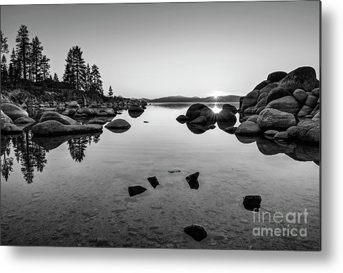 Sand Harbor Metal Print featuring the photograph Sand Harbor Sunset by Jamie Pham