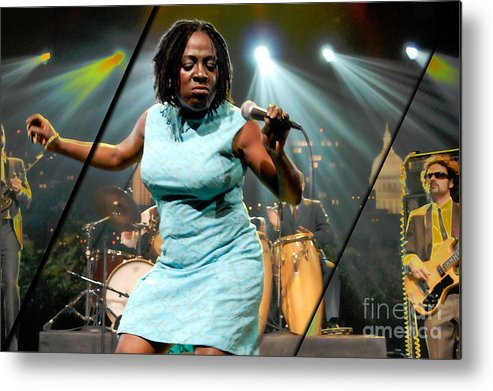 Sharon Jones Metal Print featuring the mixed media Sharon Jones And The Dap-kings Collection by Marvin Blaine