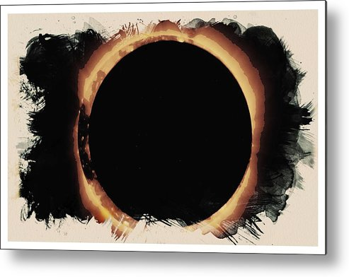 Sun Metal Print featuring the painting Solar Eclipse 2017 3 by Celestial Images