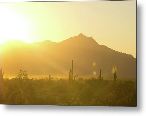 South Mountain Metal Print featuring the photograph Sunset Over South Mountain by Micah Williams