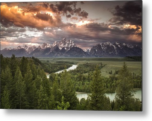 Grand Teton Metal Print featuring the photograph Teton Drama by Andrew Soundarajan