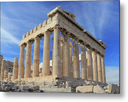 Acropolis Metal Print featuring the photograph The Parthenon Acropolis Athens Greece by Ivan Pendjakov