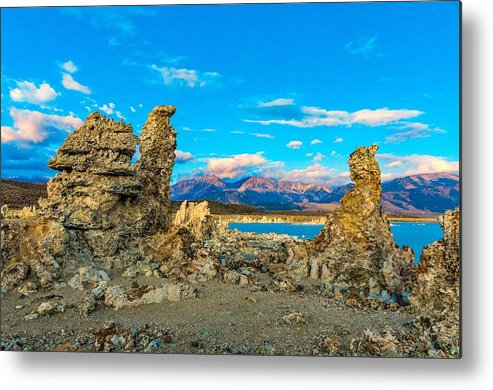 Landscape Metal Print featuring the photograph Tufa Formations At Mono Lake by Javier Flores