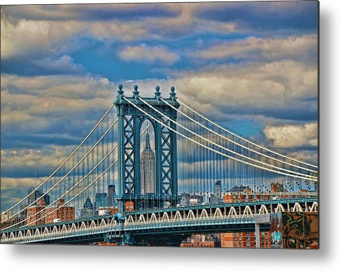 Skyscraper Metal Print featuring the photograph Two Icons by Allen Beatty