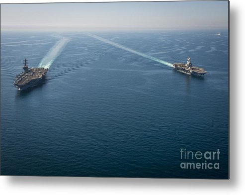 Carl Vinson Carrier Strike Group Metal Print featuring the painting Uss Carl Vinson by Celestial Images