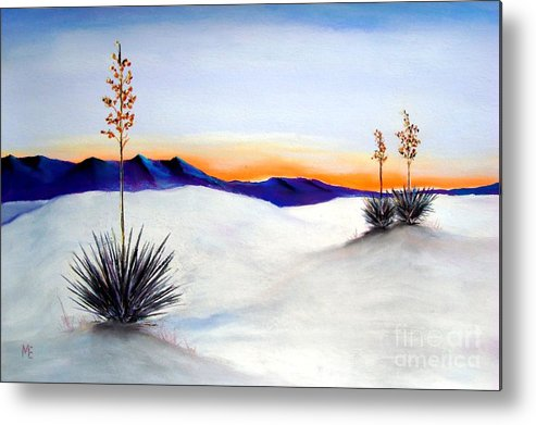 White Sands Metal Print featuring the painting White Sands by Melinda Etzold