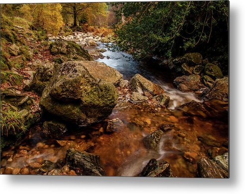 Wicklow Stream Metal Print featuring the photograph Wicklow Stream by Martina Fagan