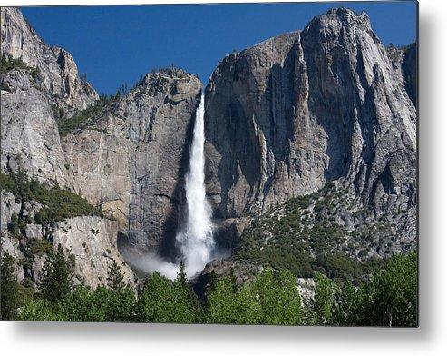 Metal Print featuring the photograph Yosemite Falls by Jim Riel