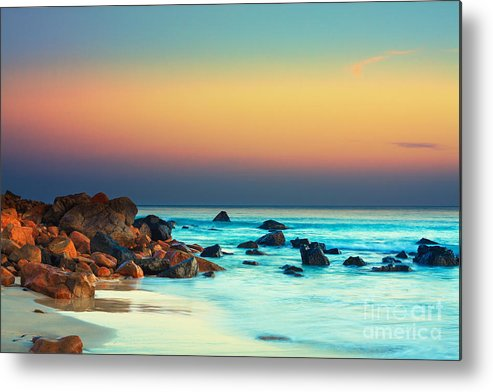 Beautiful Metal Print featuring the photograph Sunset by MotHaiBaPhoto Prints