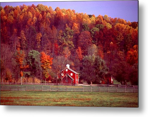 Autumn Metal Print featuring the photograph 102701-16 by Mike Davis