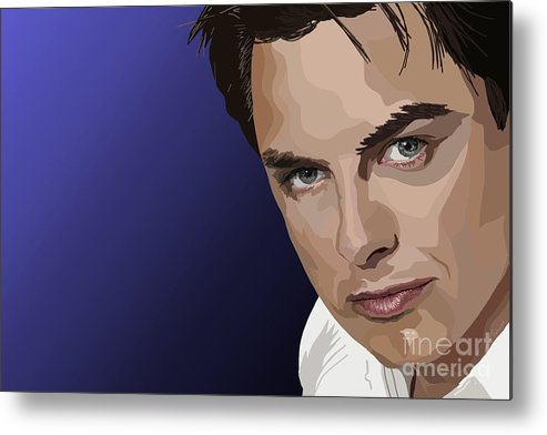John Barrowman Metal Print featuring the digital art 109. Put Your Trousers On And Get Out by Tam Hazlewood