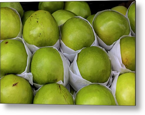 Apples Metal Print featuring the photograph Apples by Robert Ullmann