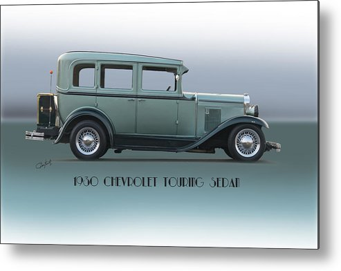 Automobile Metal Print featuring the photograph 1930 Chevrolet Touring Sedan by Dave Koontz