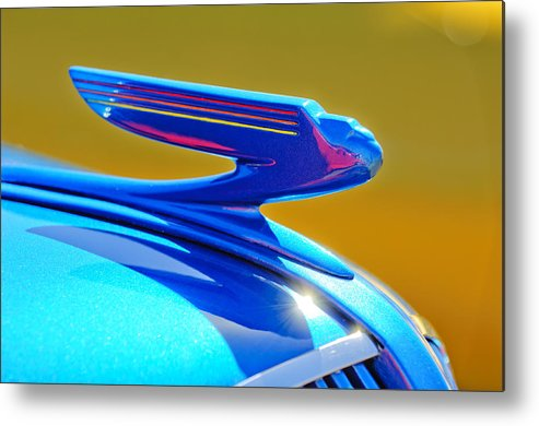1936 Chevrolet Metal Print featuring the photograph 1936 Chevrolet Hood Ornament by Jill Reger