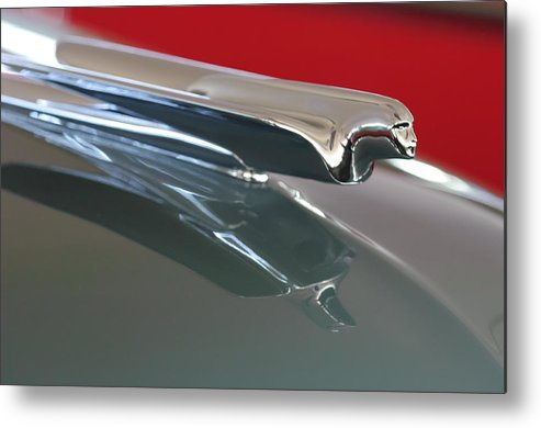1948 Cadillac Series 62 Convertible Metal Print featuring the photograph 1948 Cadillac Series 62 Hood Ornament by Jill Reger