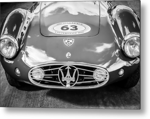 1954 Maserati A6 Gcs Metal Print featuring the photograph 1954 Maserati A6 Gcs -0255bw by Jill Reger