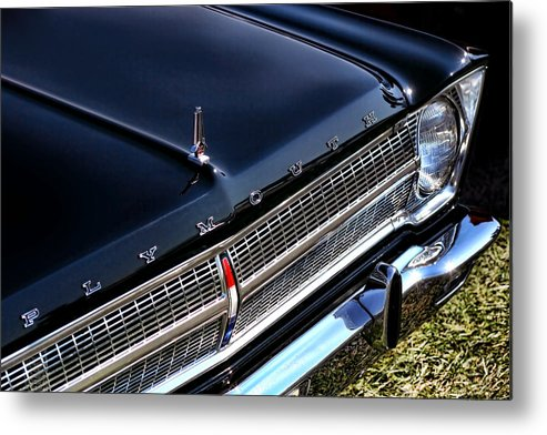 1965. Plymouth Metal Print featuring the photograph 1965 Plymouth Satellite 440 by Gordon Dean II