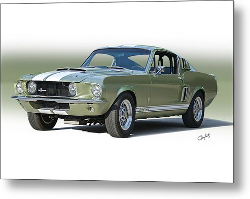 Automobile Metal Print featuring the photograph 1967 Mustang 'shelby Gt 500' by Dave Koontz