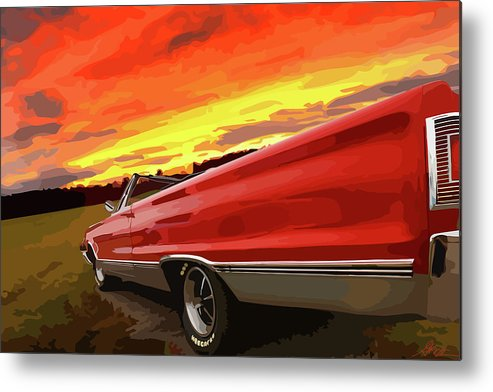 426 Metal Print featuring the photograph 1967 Plymouth Satellite Convertible by Gordon Dean II
