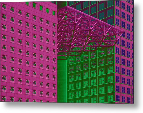 Built Structure Metal Print featuring the painting Architectural Abstract by Craig McCausland