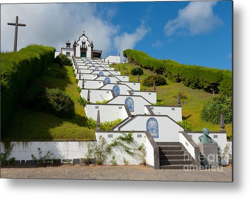 Sao Miguel Metal Print featuring the photograph Chapel In Azores Islands by Gaspar Avila