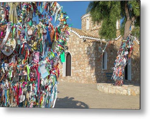 Church Of Profitis Elias Metal Print featuring the photograph Church Of Profitis Elias - Cyprus by Joana Kruse