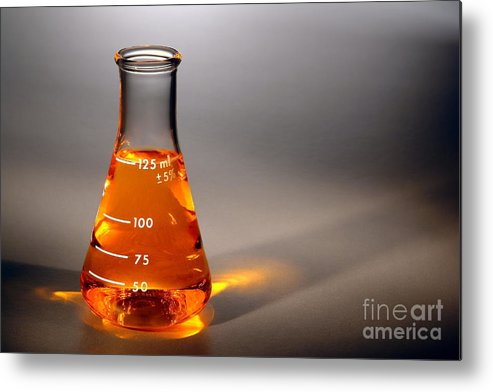 Scientific Metal Print featuring the photograph Equipment In Science Research Lab by Olivier Le Queinec