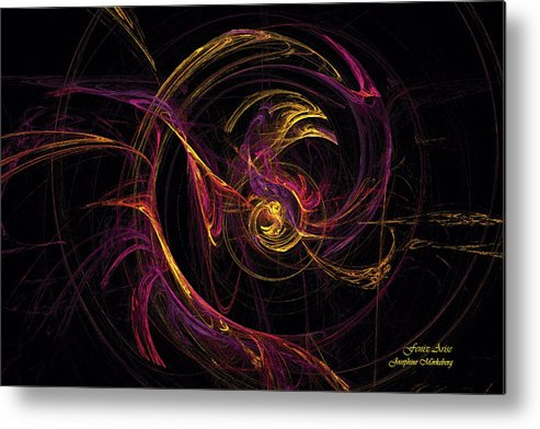 Fenix Metal Print featuring the digital art Fenix Arise by Josephine Morkeberg
