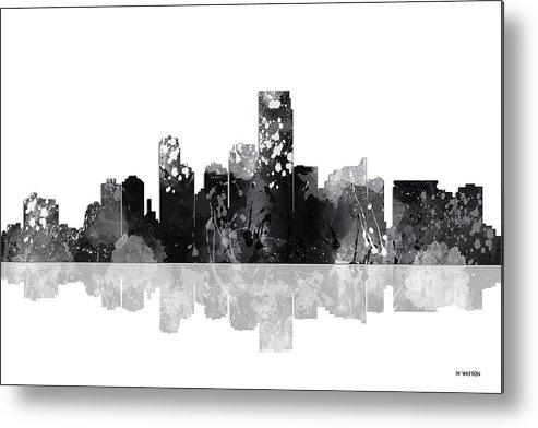 Jersey City New Jersey Skyline Metal Print featuring the digital art Jersey City New Jersey Skyline by Marlene Watson