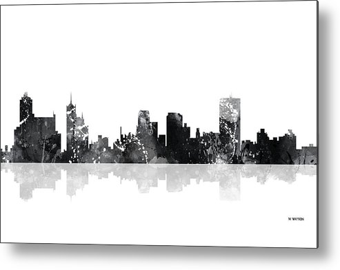 Memphis Tennessee Skyline Metal Print featuring the digital art Memphis Tennessee Skyline by Marlene Watson
