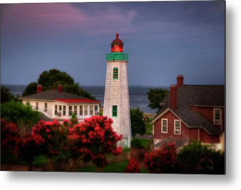 Old Point Comfort Lighthouse Metal Print featuring the photograph Old Point Comfort Lighthouse by Williams-Cairns Photography LLC
