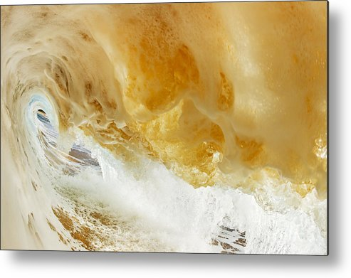 Amazing Metal Print featuring the photograph Sandy Wave by MakenaStockMedia - Printscapes