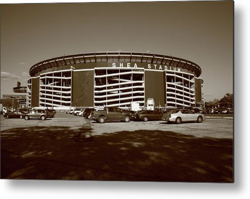 Architecture Metal Print featuring the photograph Shea Stadium - New York Mets by Frank Romeo