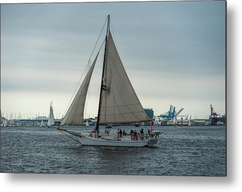 2017 Metal Print featuring the photograph Skipjack by Jim Archer