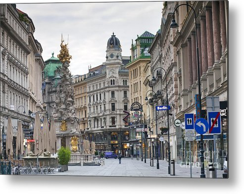 Architecture Metal Print featuring the photograph Streets Of Vienna by Andre Goncalves