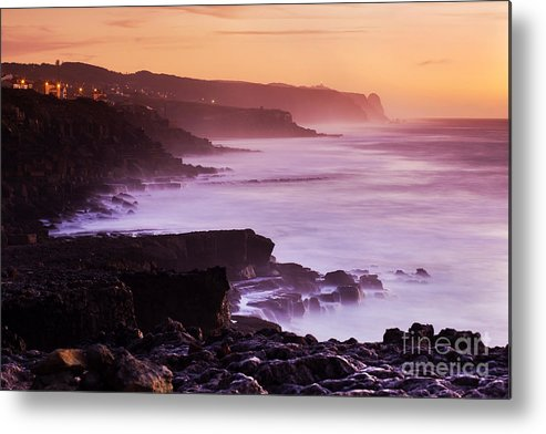 Architecture Metal Print featuring the photograph Sunset In The Portuguese Coast by Andre Goncalves