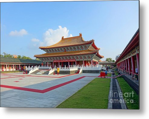 Taiwan Metal Print featuring the photograph The Confucius Temple In Kaohsiung, Taiwan by Yali Shi
